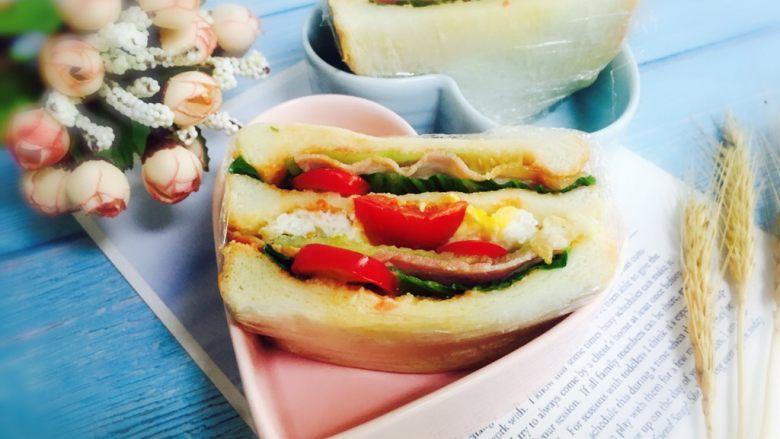 培根鸡蛋三明治