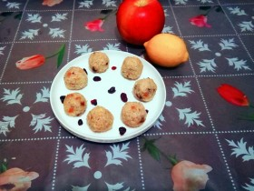 #花样水果#      甜香珍珠圆子