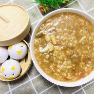 蘑菇茄丁疙瘩汤