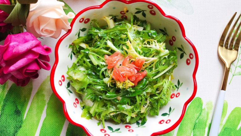 凉拌苦苣芝麻菜