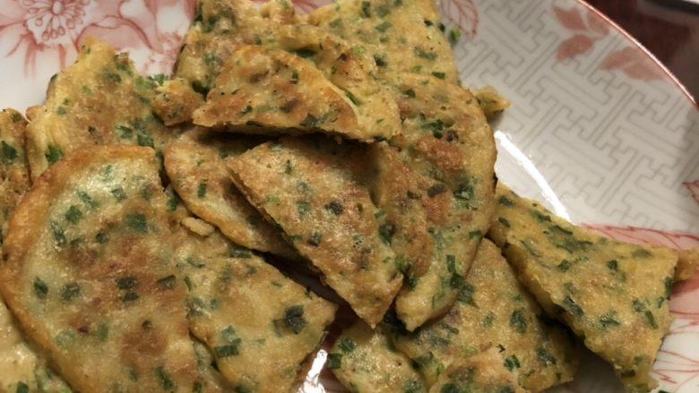 韭菜鸡肉饼