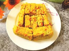 西兰花玉米鸡肉糕