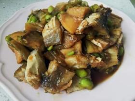 咸鱼炒毛豆
