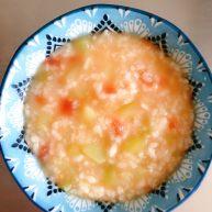 番茄丝瓜补钙粥