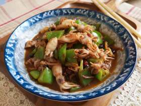 鲜美+青椒炒海兔