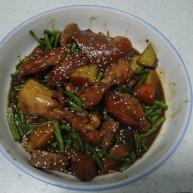 鸡翅根炖鸡翅、土豆、胡萝卜、长豆角