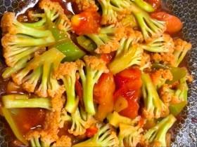 西红柿🍅炒花菜