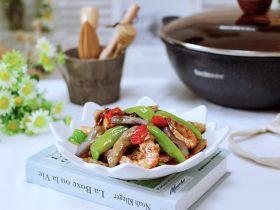 海虾肉片辣炒茄条