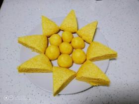 奶香窝窝头+奶香千层玉米面糖饼
