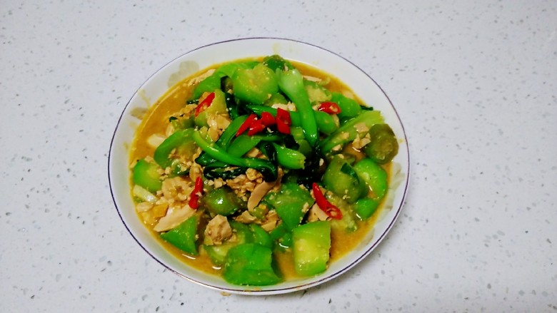 咸蛋清炒丝瓜、上海青