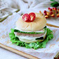 午餐肉黃瓜漢堡包