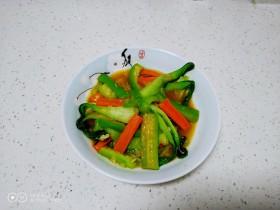 清炒胡萝卜、丝瓜、上海青