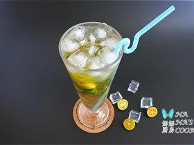 薄荷青桔绿茶冰饮