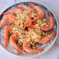 蒜油青虾椒酿肉