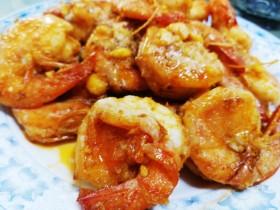 蛋黄炒 虾
