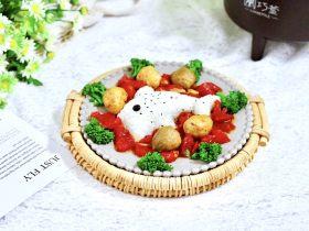 咖喱番茄丸子盖浇饭