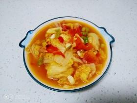 尖椒炒西红柿炖白菜