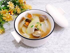 冬瓜花蛤汤