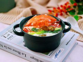 螃蟹青菜辣椒粥
