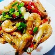 红烧大白虾