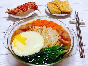#冬日暖心菜#菠菜鸡蛋面