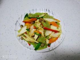 清炒山药、扁豆、胡萝卜