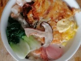 香菇青菜虾仁面