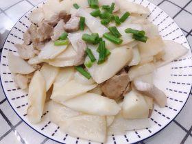 山药炒肉片