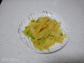 咸蛋黄炒白菜炖粉皮