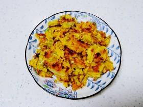 冬至美食+玉米面、咸鸭蛋、白菜、鸡蛋饼