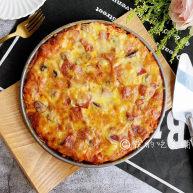冬至美食 培根蘑菇披薩