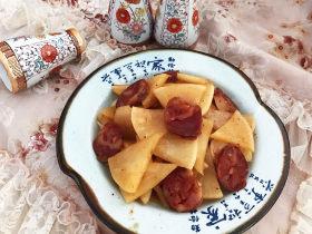 冬至美食   快手菜腊肠炒萝卜