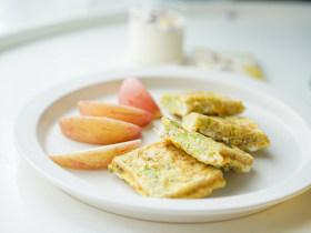 12个月以上西蓝花鸡蛋米饭饼