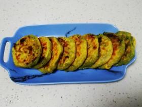 玉米面韭菜小饼
