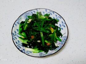 蒜苗炒菠菜