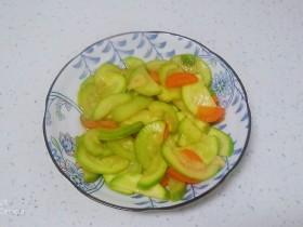 糖醋西葫芦、胡萝卜片