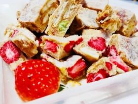 燕麦草莓雪花酥