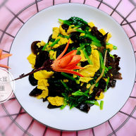 菠菜木耳炒雞蛋