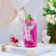 火龙果蔓越莓麦片酸奶昔