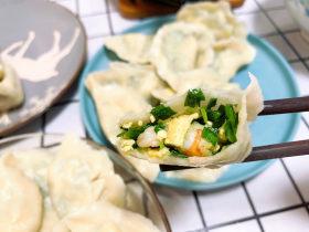 韭菜鸡蛋虾仁馅水饺