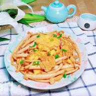 白玉菇炒鸡蛋