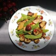 减脂系#香菇荷兰豆鸡肉肠#