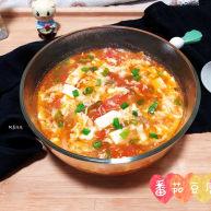 番茄豆腐汤➕番茄榨菜豆腐鸡蛋汤