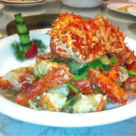 姜葱炒帝王蟹