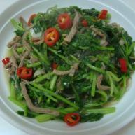 苔菜炒肉丝