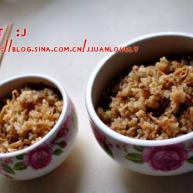 沙茶姬菇肉沫炒饭