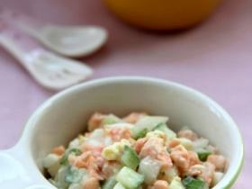 三文鱼沙拉--健脑益智又强身