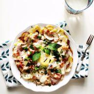 培根蘑菇薯片薄饼