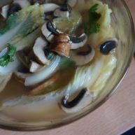 小白菜牛肉蘑菇汤