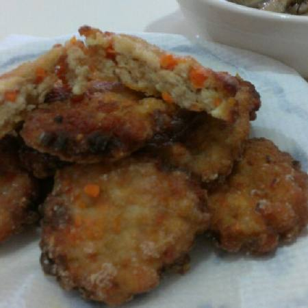 瑤柱鸡肉饼
